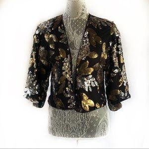 Black Vici A. Calin sequin Kimono Top from Vici S